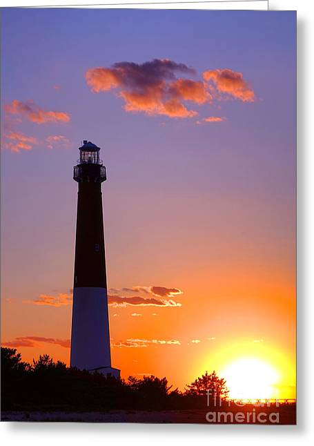 Good Night Barnegat Greeting Card by Olivier Le Queinec