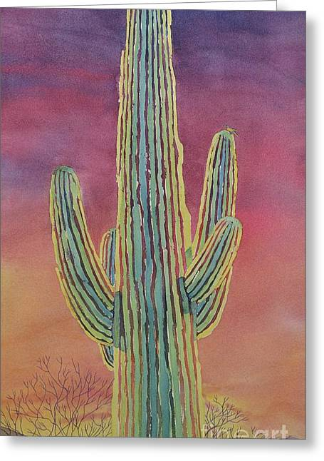 Good Night Cactus Wren Greeting Card