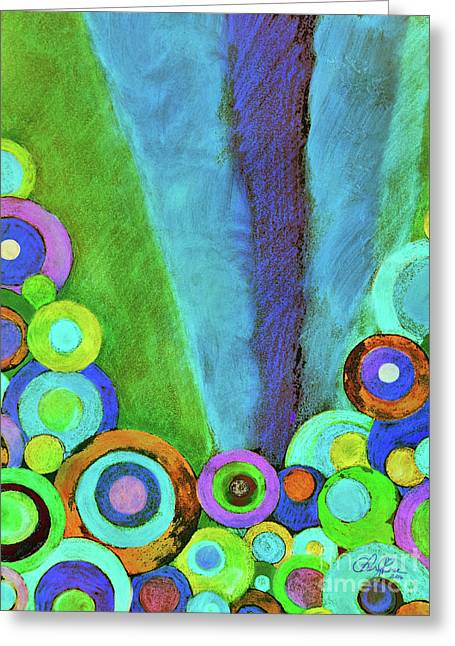 Good Night Doodle Greeting Card by Cheryl Rose