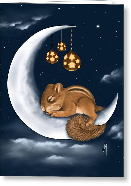 Greeting Card featuring the painting Good Night by Veronica Minozzi