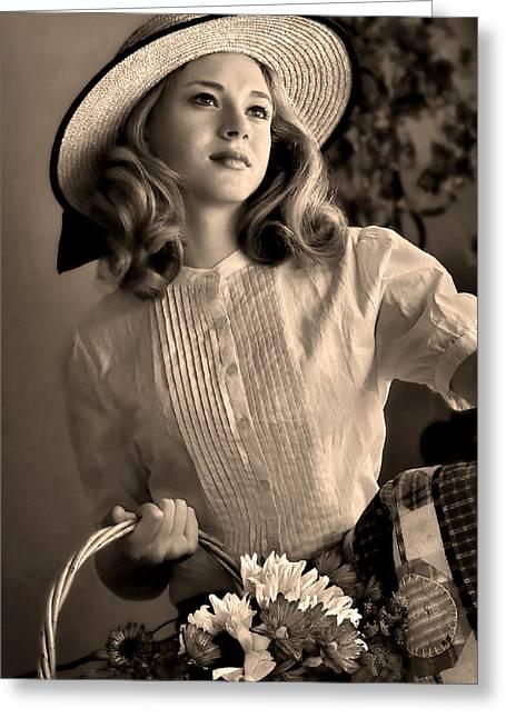Good Old Fashion Girl Greeting Card