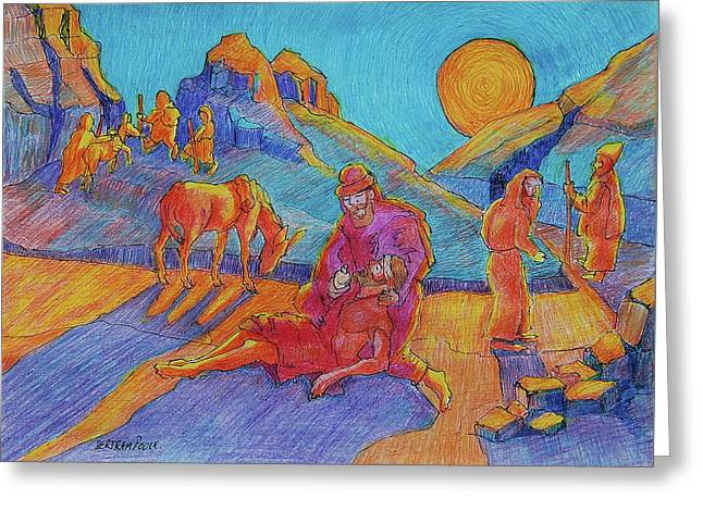 Good Samaritan Parable Painting Bertram Poole Greeting Card