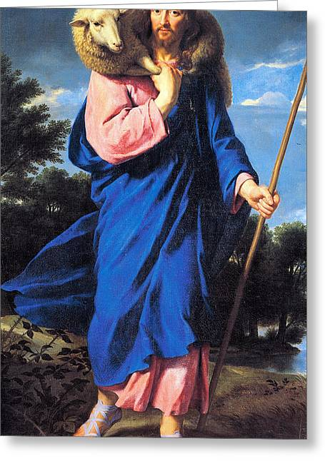 Good Shepherd Greeting Card by Philippe de Champaigne