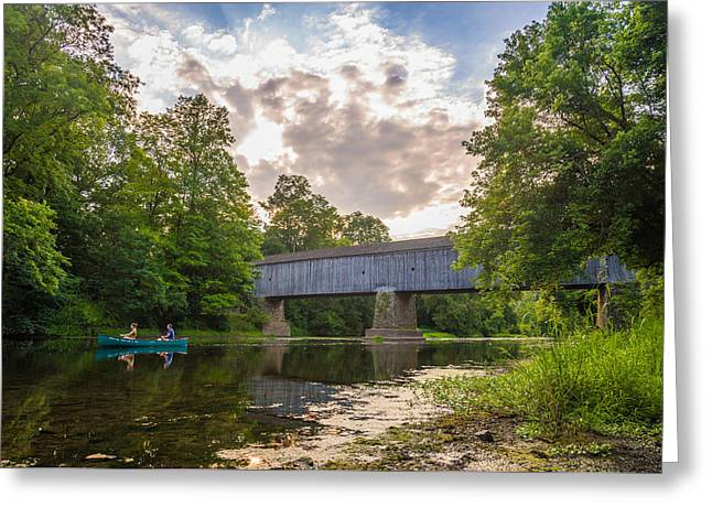 Good To Canoe Greeting Card by Kristopher Schoenleber