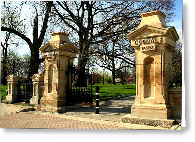 Goodale Park Gateway Greeting Card