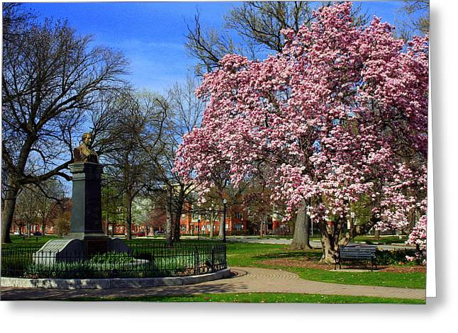 Goodale Park In The Spring Greeting Card