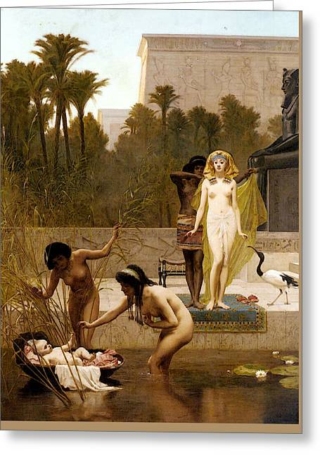 Goodall Frederik The Finding Of Moses Greeting Card by Frederick Goodall