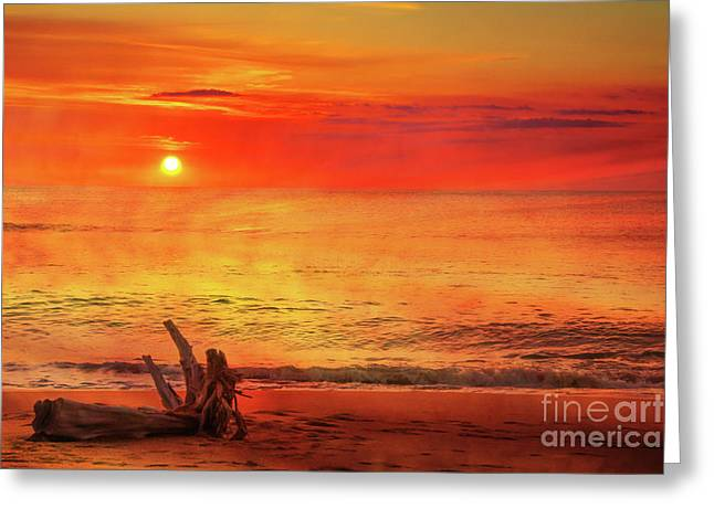 Greeting Card featuring the digital art Goodbye Day by Randy Steele