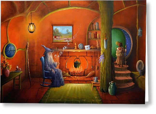Goodbye Gandalf Greeting Card by Joe  Gilronan