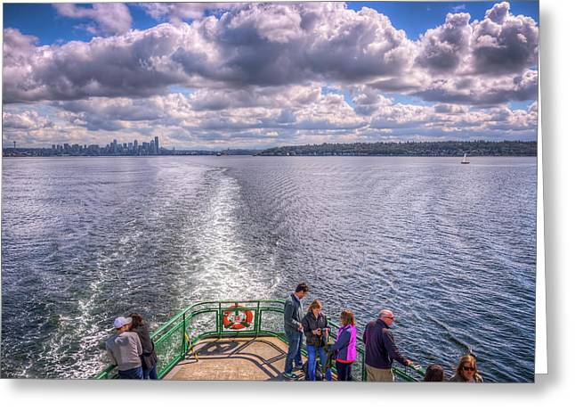 Goodbye Seattle Greeting Card by Spencer McDonald