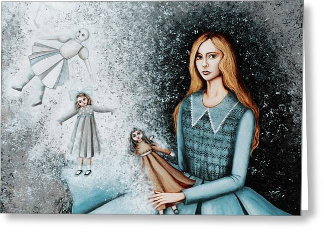 Goodbye  To Dolls Greeting Card by Graciela Bello