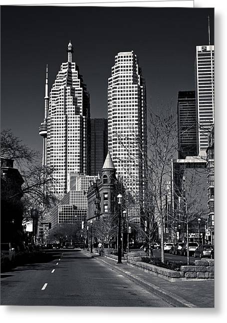 Gooderham Flatiron Building And Toronto Downtown Greeting Card