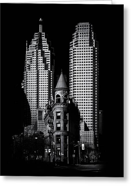 Gooderham Flatiron Building And Toronto Downtown No 2 Greeting Card