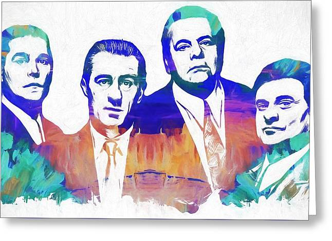 Goodfellas Watercolor Greeting Card by Dan Sproul