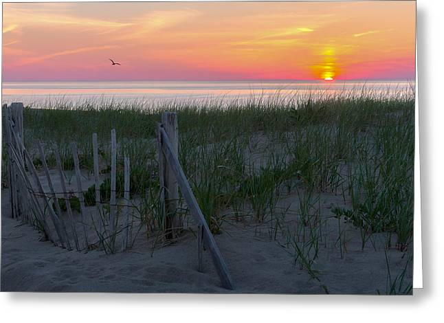 Goodnight Cape Cod 2015 Greeting Card by Bill Wakeley