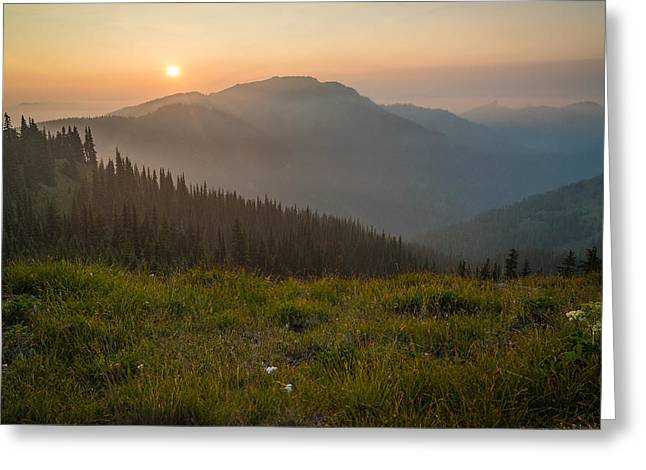Goodnight Mountains Greeting Card