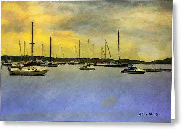 Goodnight, Nantucket Greeting Card by RC deWinter
