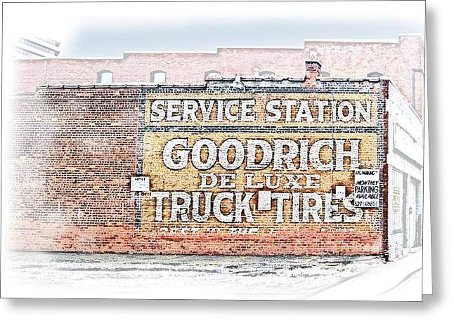 Goodrich Tires Greeting Card