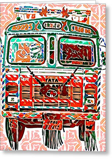 Goods Carrier India Greeting Card