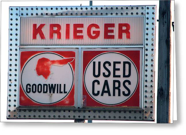 Goodwill Used Cars Greeting Card by Jame Hayes