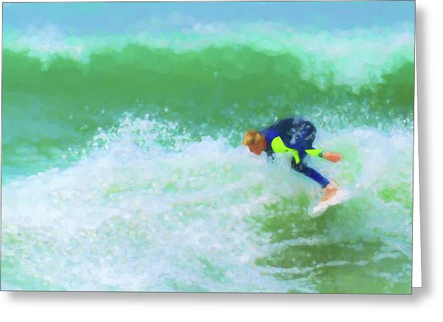 Goofin Off Surfing Watercolor Greeting Card