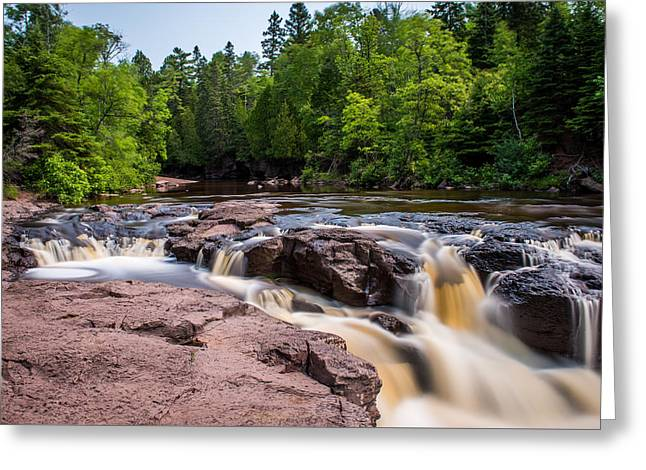 Goose Berry River Rapids Greeting Card by Paul Freidlund