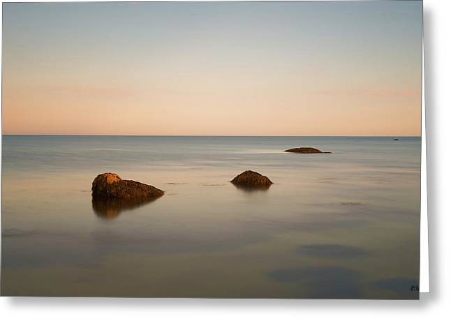 Greeting Card featuring the photograph Gooseberry Island II Color by David Gordon