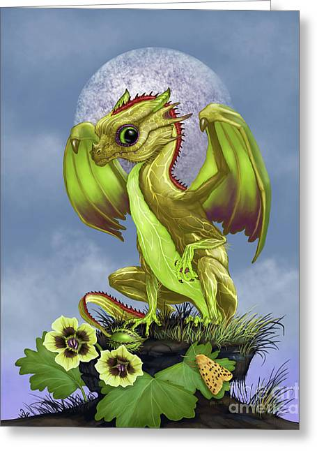 Gooseberry Dragon Greeting Card by Stanley Morrison
