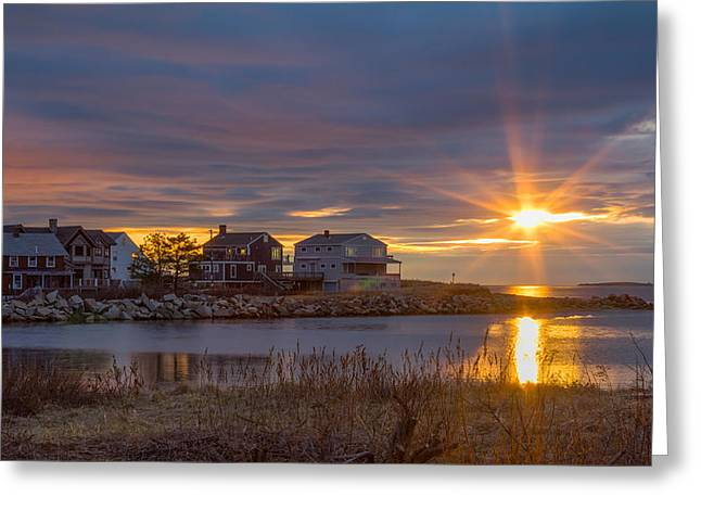 Goosefare Brook Sunrise - Saco Maine Greeting Card
