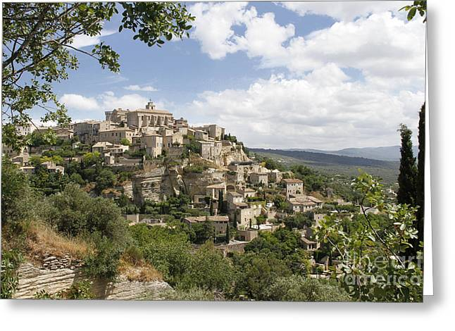 Greeting Card featuring the photograph Gordes In Provence by Stan and Anne Foster