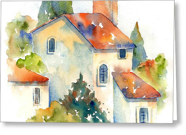 In The Village Of Gordes Greeting Card