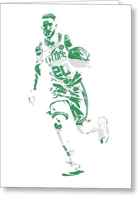 Gordon Hayward Boston Celtics Pixel Art 10 Greeting Card