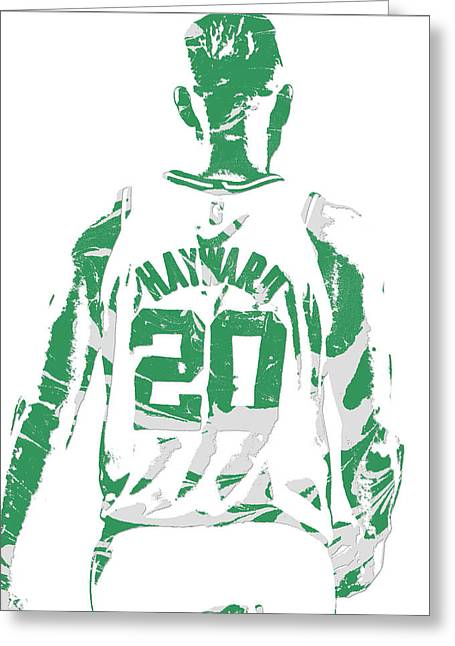 Gordon Hayward Boston Celtics Pixel Art T Shirt 5 Greeting Card