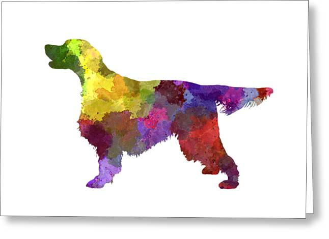 Gordon Setter In Watercolor Greeting Card by Pablo Romero