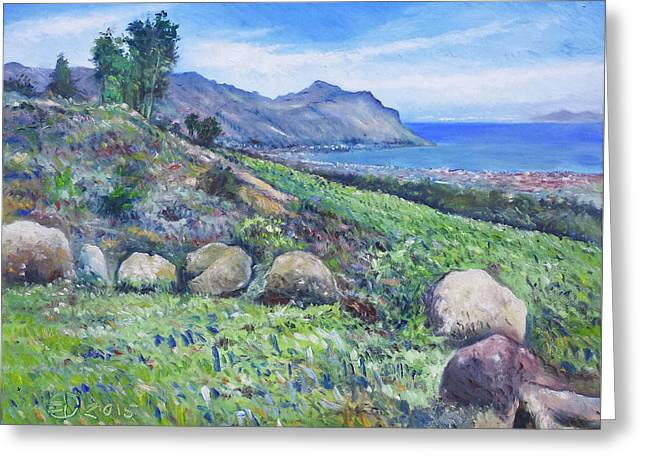 Gordon's Bay Cape Town South Africa Greeting Card by Enver Larney