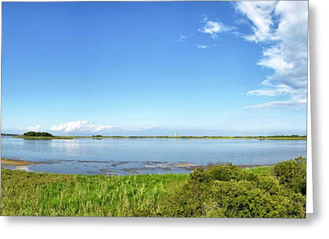 Greeting Card featuring the photograph Gordons Pond Panorama - Cape Henlopen State Park - Delaware by Brendan Reals