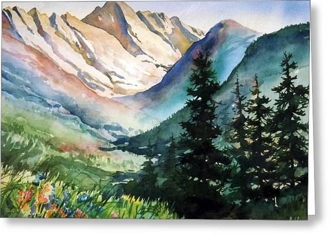Gore Range Greeting Card by Patty  Frierson