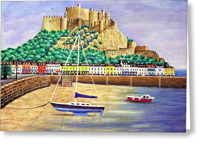 Gorey Castle - Jersey Greeting Card by Ronald Haber