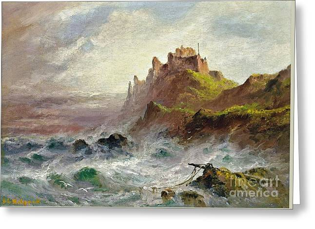 Gorey Castle Greeting Card by MotionAge Designs