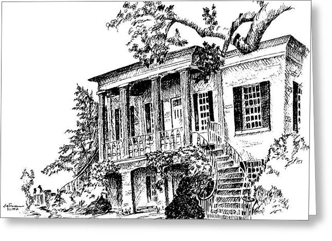 Gorgas House, University Of Alabama Greeting Card by Jim Stovall