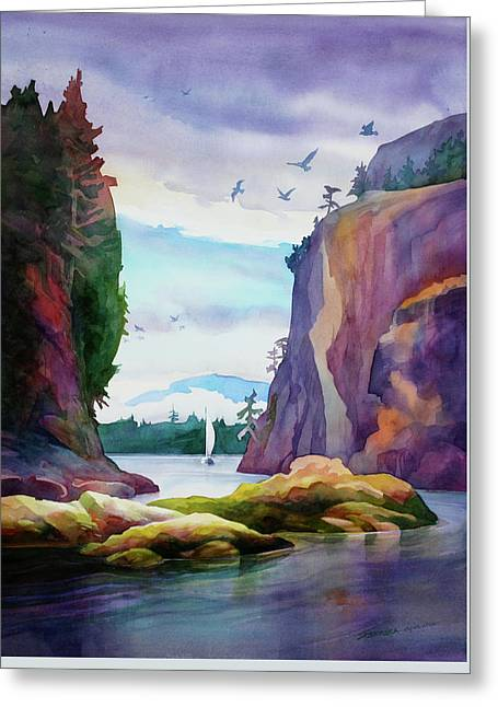 Gorge Entrance View Greeting Card