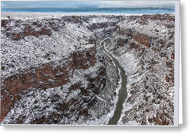 Greeting Card featuring the photograph Gorge In Snow by Britt Runyon