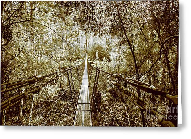 Gorge Swinging Bridges Greeting Card