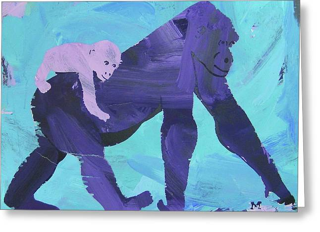Greeting Card featuring the painting Gorgeous Gorilla by Candace Shrope