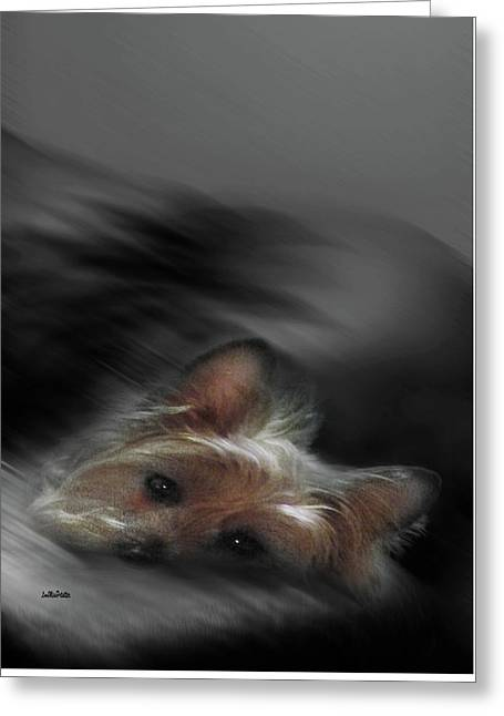Yorkie Joy Painting Greeting Card