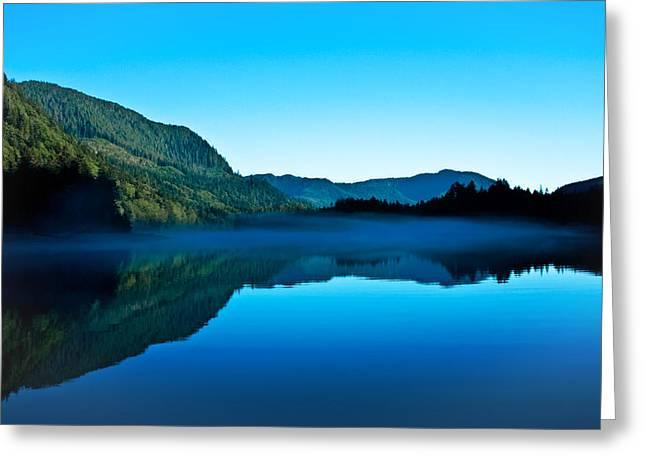 Gorilla Creek In The Mist Greeting Card by Sylvia J Zarco