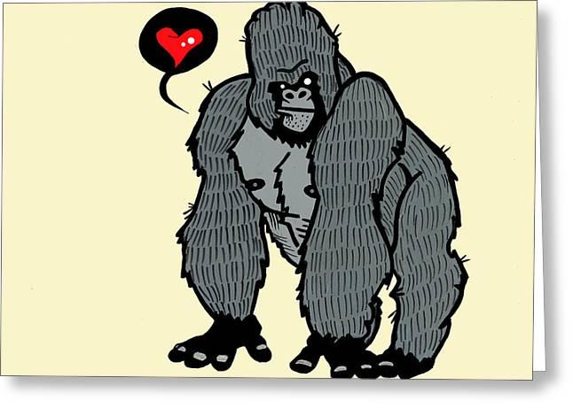 Gorilla Love Greeting Card by Nicole Wilson
