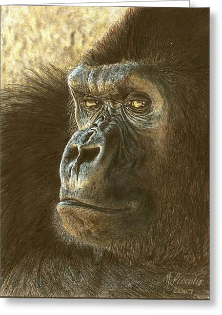 Gorilla Greeting Card by Marlene Piccolin