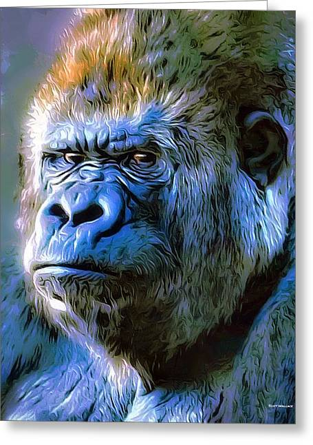 Gorilla Portrait Greeting Card by Scott Wallace