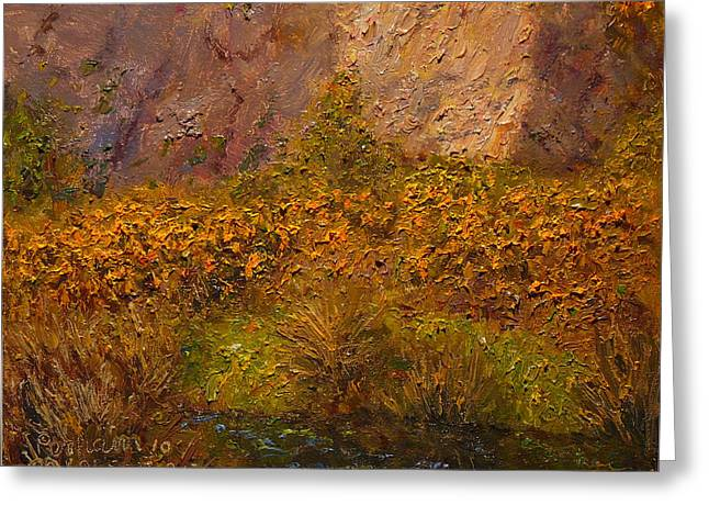 Gorse Near The Swamp Greeting Card by Terry Perham